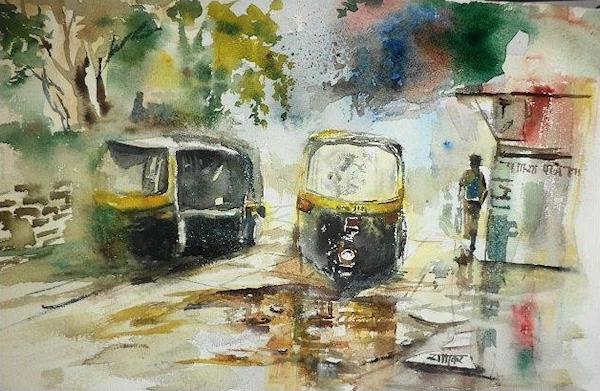 auto-in-rain-rajesh-bhatkar